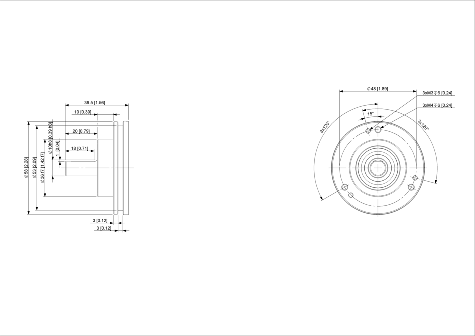 POSITAL IXARC UCD-IPH00-XXXXX-HFSS-ARW Incremental Rotary Encoder