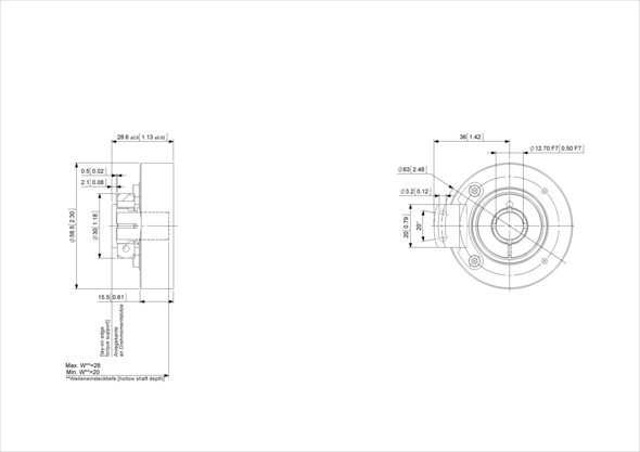 POSITAL IXARC UCD-IPT00-XXXXX-HBTS-2AW Incremental Rotary Encoder